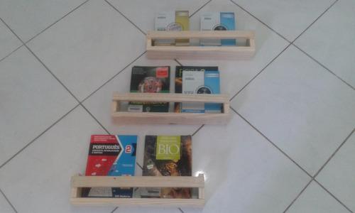3 - prateleira decorativa livros infantil 60x8x11