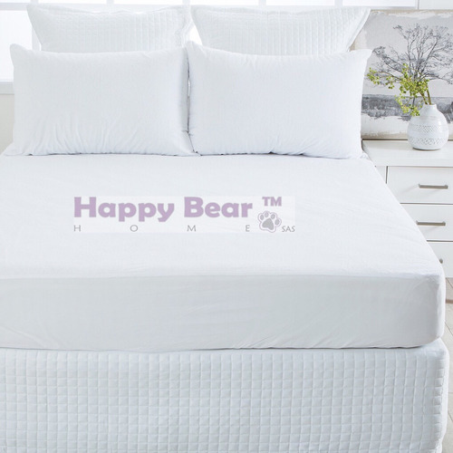 3 protectores colchón impermeable doble antiacaros ajustable