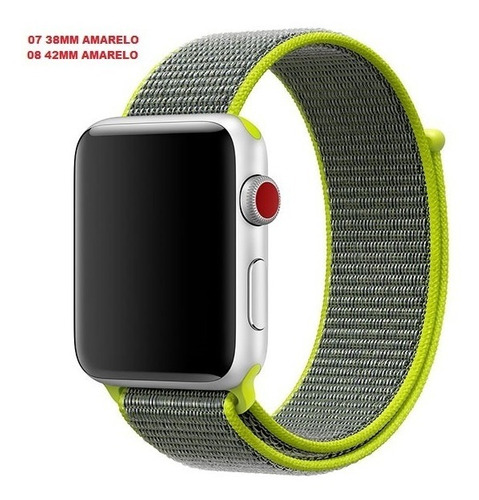 3 pulseira nylon loop sport apple watch 1 2 3 e 4 38/42mm
