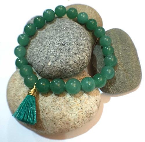 3 pulseras d cuarzo verde arcángel rafael energía protección