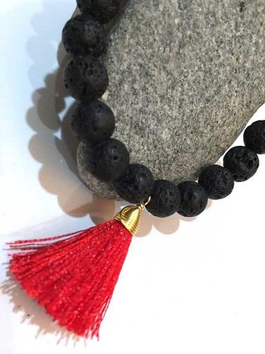 3 pulseras d piedra volcánica aromaterapia equilibro armonía