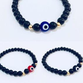 580a5c2e83a3 3 Pulseras Ojo Turco Rojo, Azul O Negro Cristal