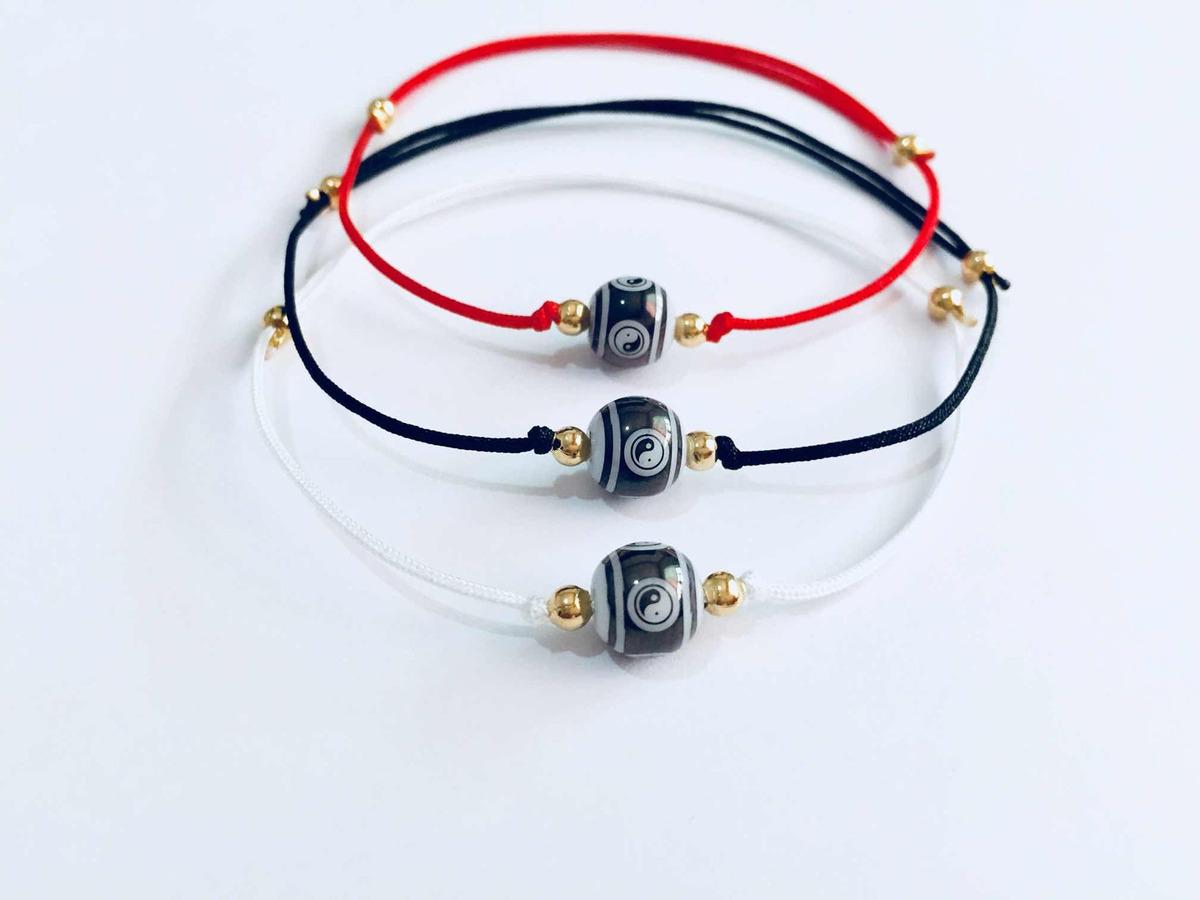 7f2adc43d817 3 Pulseras Yin Yang Hilo Rojo Negro Y Blanco Con Envio -   200.00 en ...