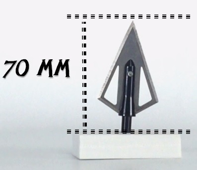 3 puntas de caceria tipo triangulo paquete de 3    mmu