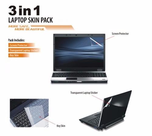 3 pzas kit protector pantalla teclado cubierta laptop 14.1
