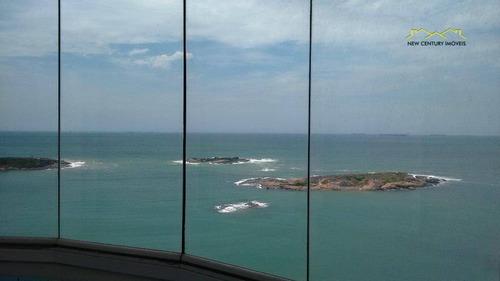 3 qts com vista deslumbrante do mar da praia da costa! - ap2429