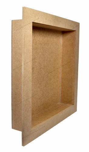 3 quadro cenário 3 - 34,5x34,5x5 - mdf madeira
