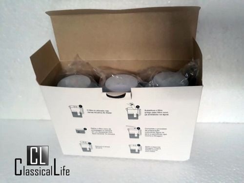 3 refil para jarra ak water akmos alcaliniza purifica