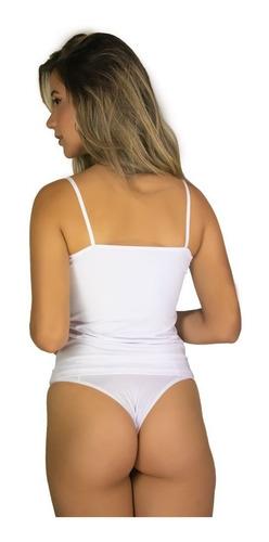 3 regata segunda pele camiseta feminina blusa alça fina 031