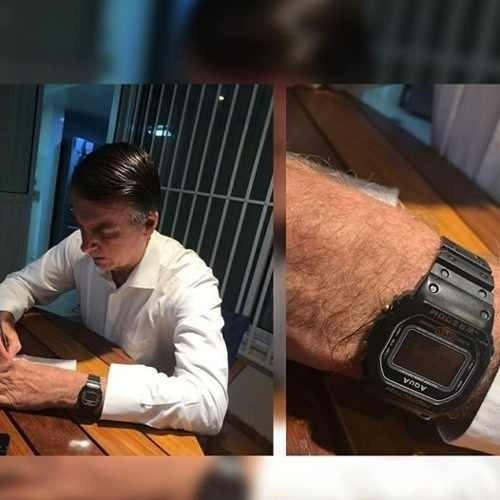 3 relógio bolsonaro presidente 2019 + 42 baterias reposição