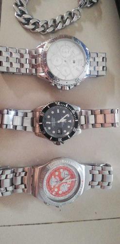 3 relojes originales,swatch,tommy hilfiger,rolex