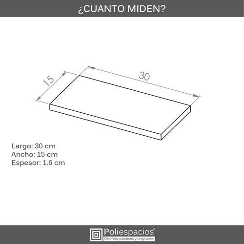 3 repisas flotantes minimalistas melamina vintage 30x15
