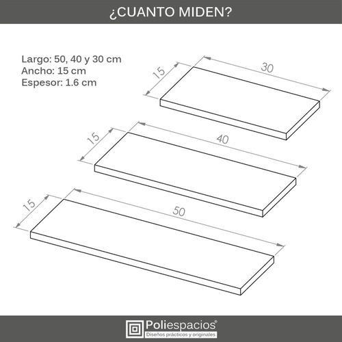 3 repisas flotantes modernas minimalistas melamina mixtas