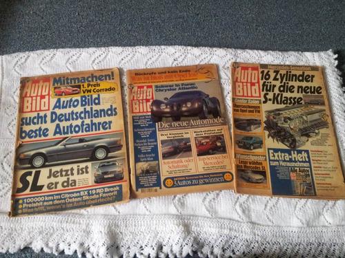 3 revistas alemanas antiguas autobild