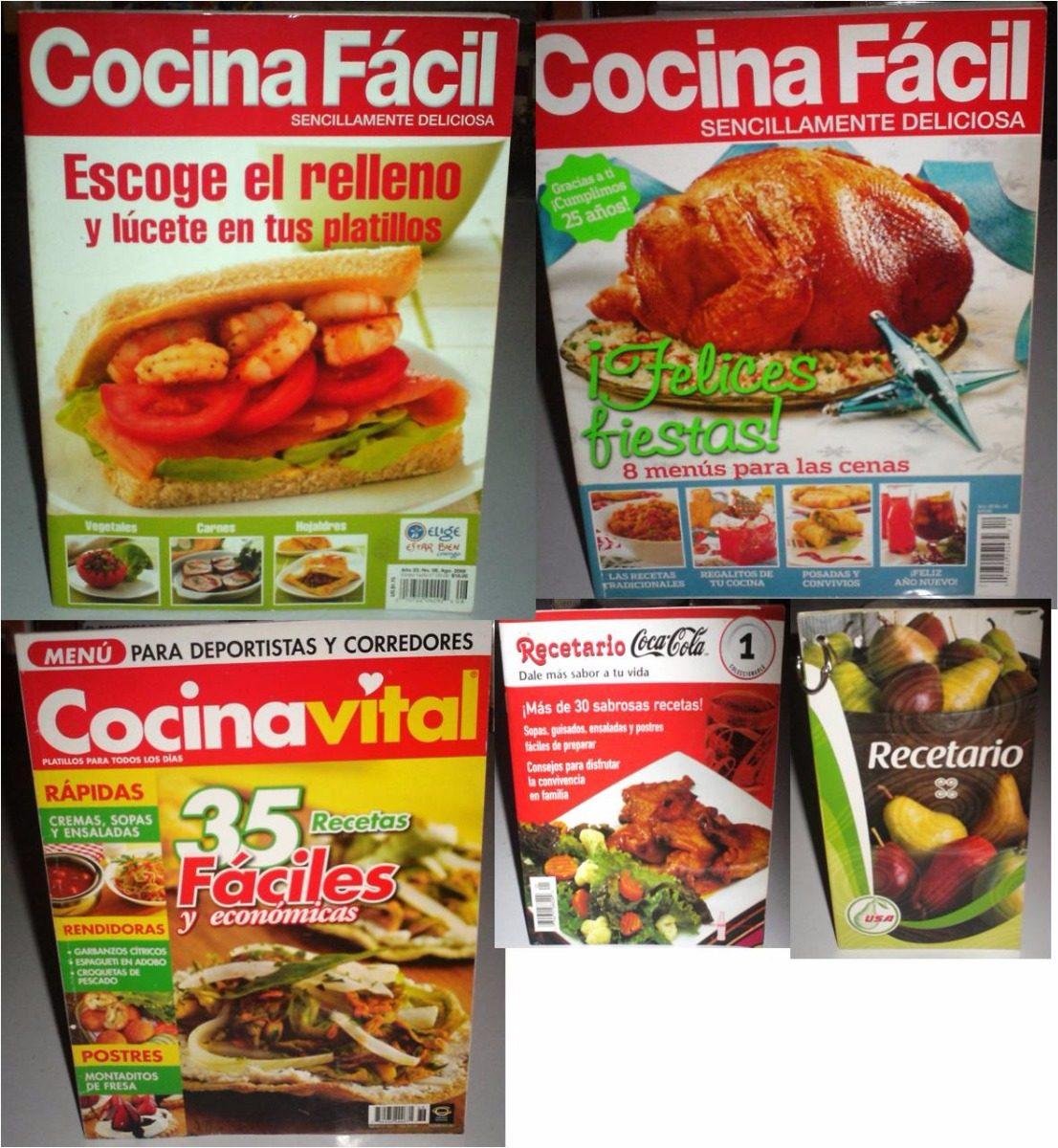 3 Revistas Cocina Fiestas 1 Recetario Coca Cola 1 Peras