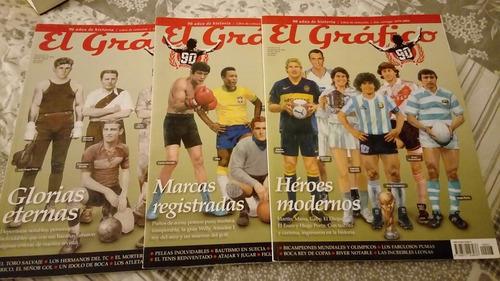 3 revistas el gráfico   90 años de historia .