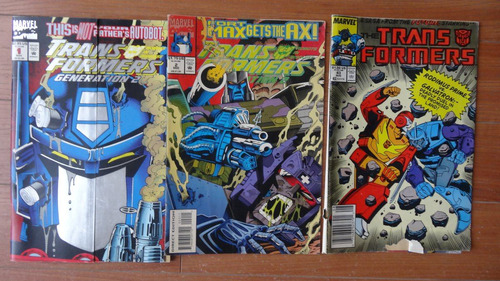 3 revistas marvel comic transformers en ingles