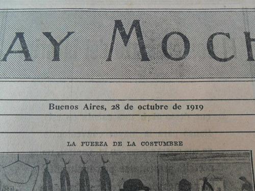 3 revistas reliquia,fray mocho, 1919- libro, humor, política