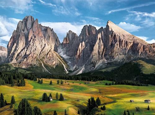 3 rompecabezas caballos alpes mont saint michel clementoni