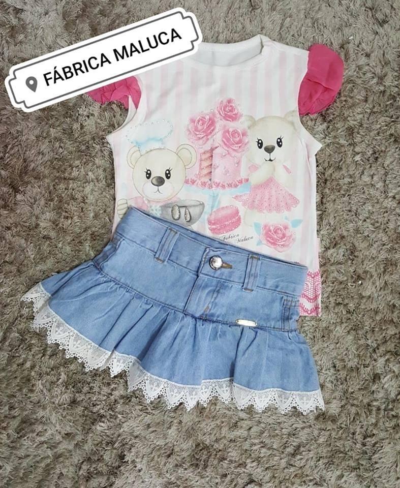 b16183ac1 3 roupas infantil fábrica maluca - tecido marisol luxo. Carregando zoom.