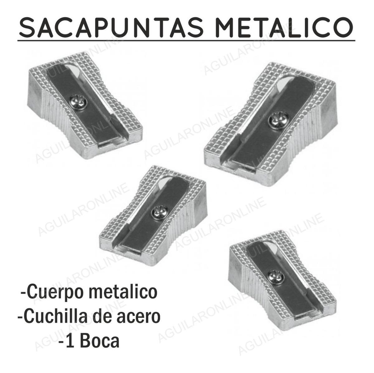 3 Sacapuntas Metálicos De Metal Con Cuchilla Acero - $ 66,00 en Mercado  Libre