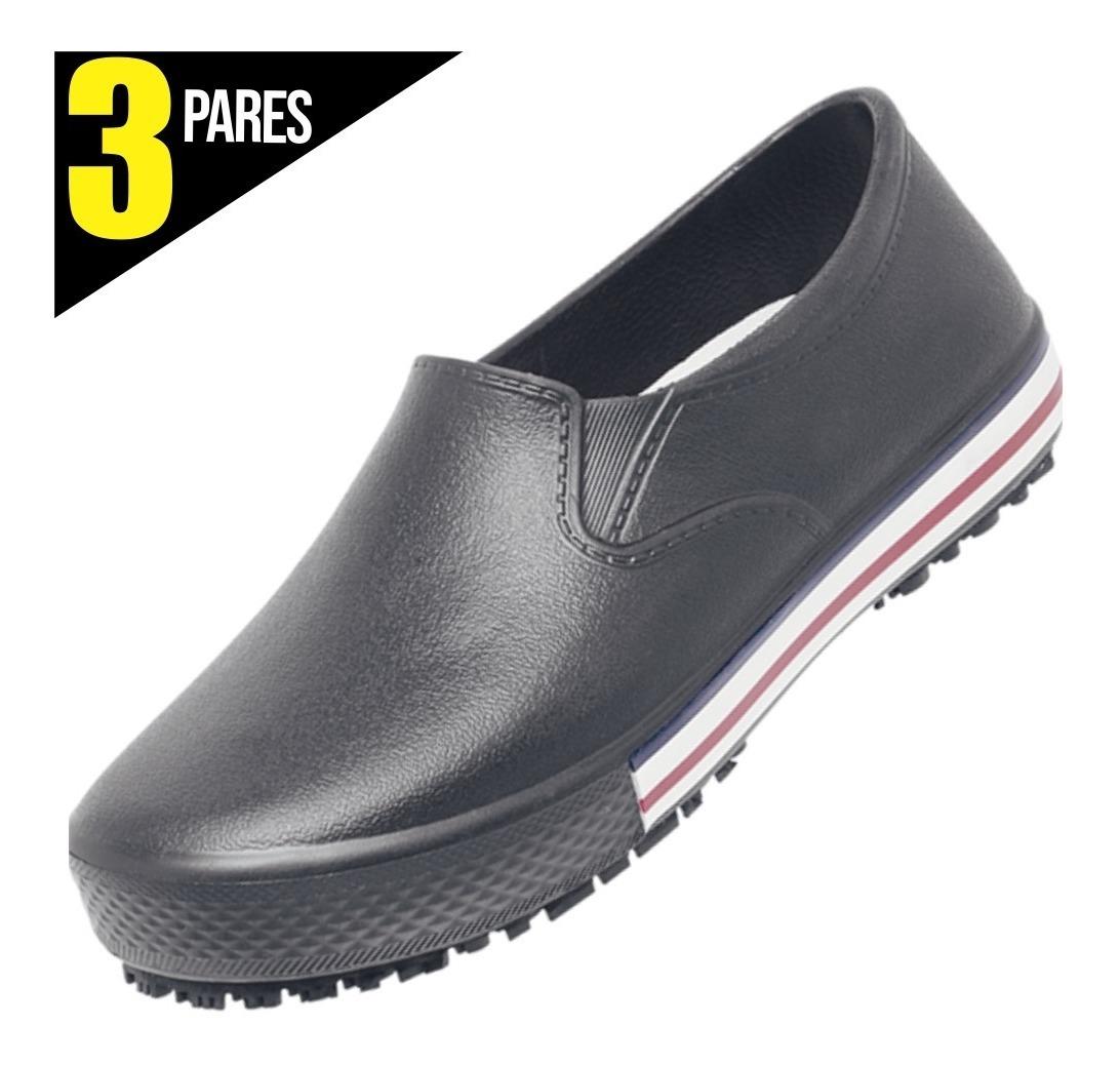8883d5859 3 Sapatos Eva Cozinha Industrial Antiderrapante Com Ca Tenis - R ...
