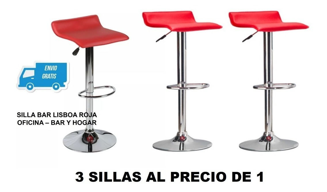 3 Sillas Al Precio De 1 Bar Lisboa Barra Cocina Envio Gratis