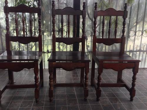 3 sillas de algarrobo
