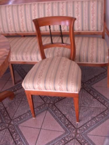 3 sillas y mesa  biedermeier alemania - austria sobre 1825