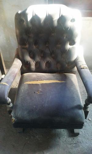 3 sillones estilo chesterfield super oferta para retapizar