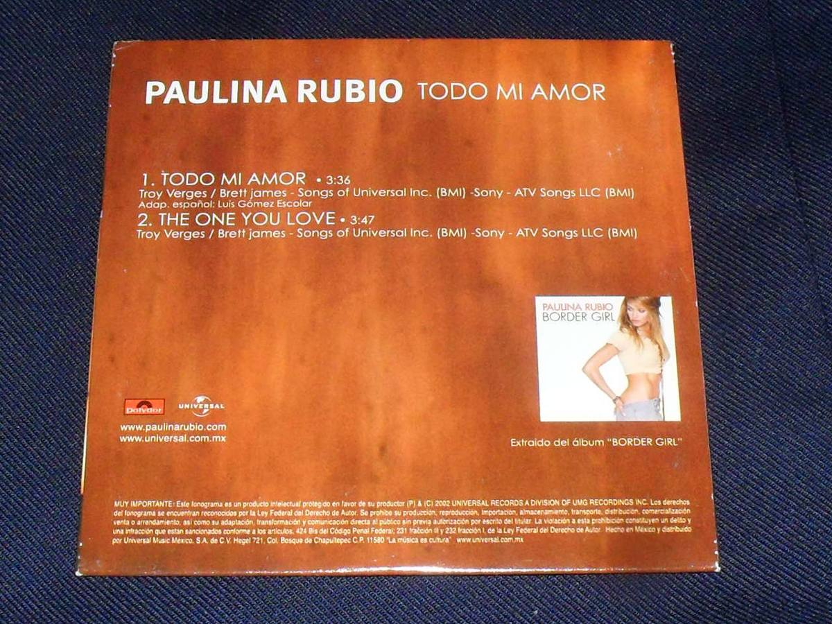 paulina singles All the singles and albums of paulina rubio, peak chart positions, career stats, week-by-week chart runs and latest news.