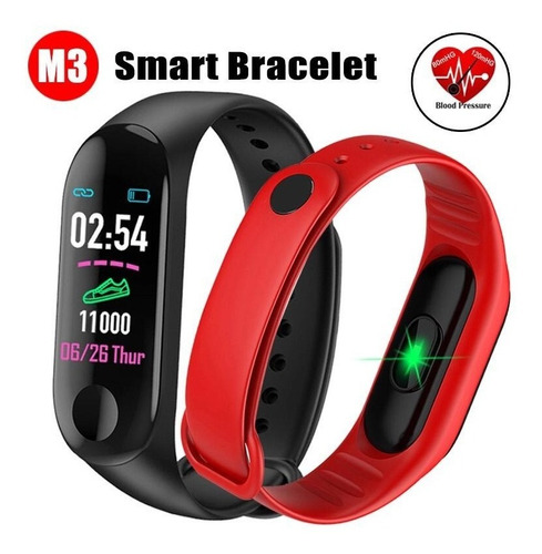 3 smart band watch m3 ritmo cardiaco podometro presion sport