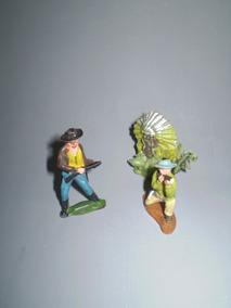 3 Indio Antiguo Juguete Cowboy Vaqueros Soldaditos 92bHIWEeDY