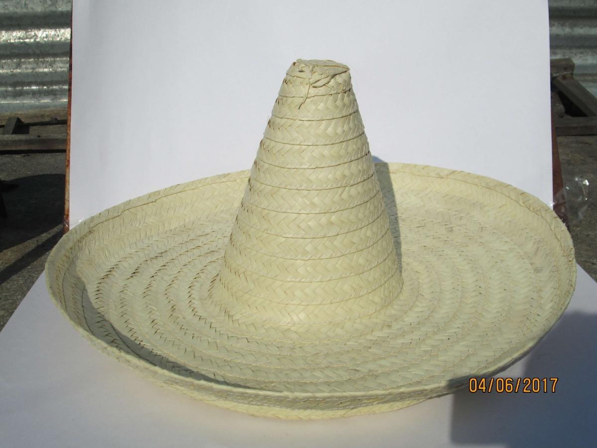 082b96821785f 3 Sombrero Zapata Adulto 60 Cm Palma Mexicano Fiesta Mex -   259.00 ...