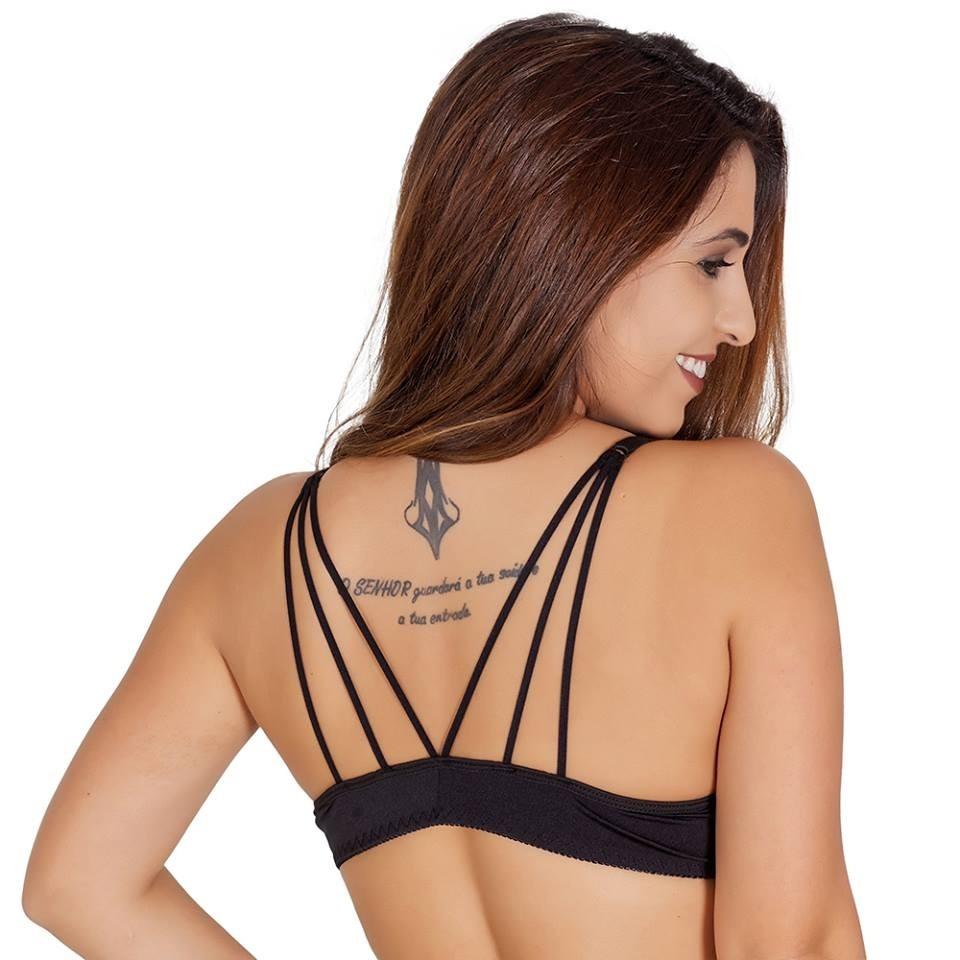 65b9c5b41 3 soutien strappy bra sutiã com bojo de tiras atacado moda. Carregando zoom.
