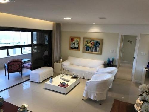 3 suítes +home + dep. completa + 4 vagas - apartamento residencial à venda, mansão jenner augusto - barra, salvador. - ap0062 - 32219407