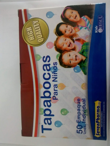 3 tapabocas desechables para niños - unidad a $270