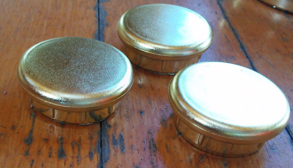 3 Tapas Plastico Simil Bronce Muebles 4x1cm Pompeya V Crespo  # Muebles Pompeya