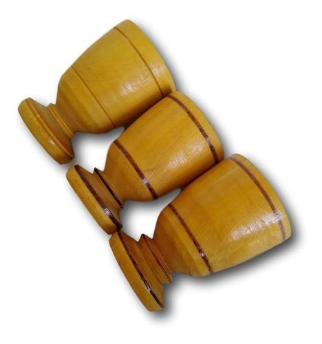 3 tarça copinho de madeira torneado aperitivo ref.0289