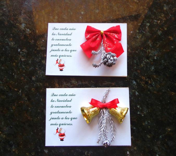 tarjetas navidad artesanal imn semillas pias ramitas