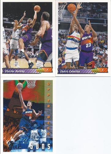 3 tarjetas phoenix suns charles barkley upper deck 92-93
