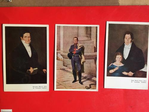 3 tarjetas postales, museo historico, uruguay, al1c24