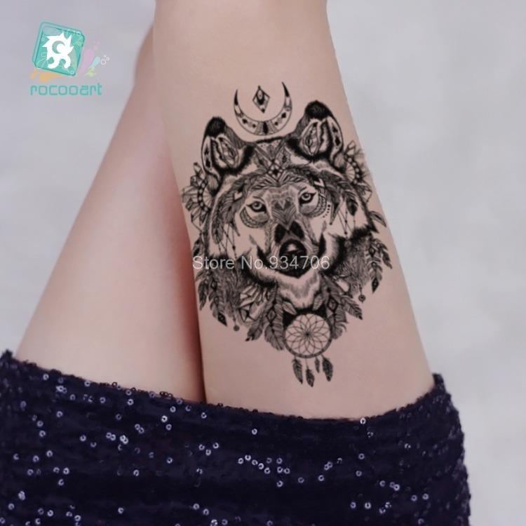 c8f4b9565 3 Tatuagem Lobo Grande... Lindas... Muito Real !!! - R$ 46,00 em Mercado  Livre