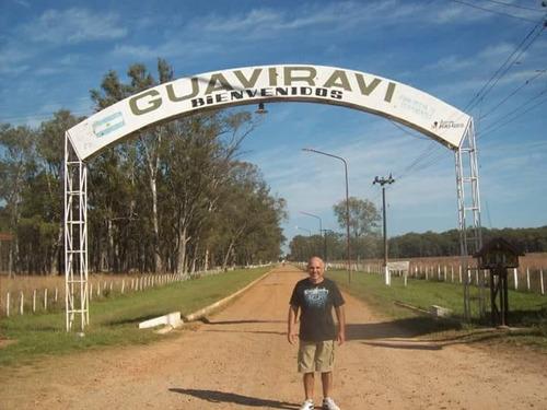 3 terrenos hubicados en guaviravi (pcia de corrientes)