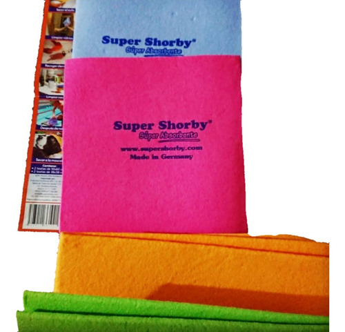 3 toallas super shorby absorbentes grandeoriginales alemana