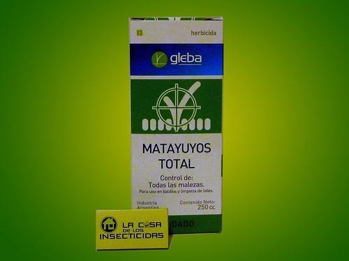 3 u herbicida glifosato matayuyos total gleba 250 cc cdi1914