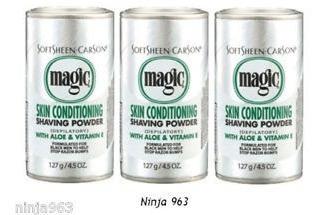 3 unds polvo depilarorio magic shaving powder