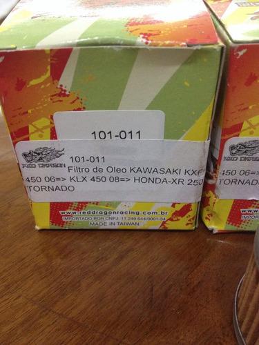 3 unid filtro de óleo honda tornado 250 e kawasaki klx 450cc