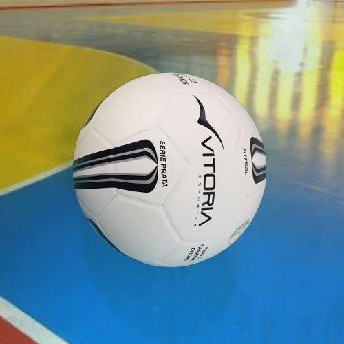 3 Unidades Bola Futsal Vitoria Oficial Prata Max 500 Quadra - R  159 ... da494fc060251