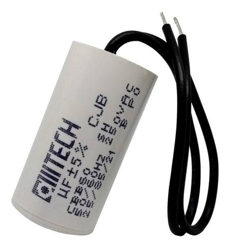 3 unidades capacitor partida 2uf x 250vac fio cilíndrico